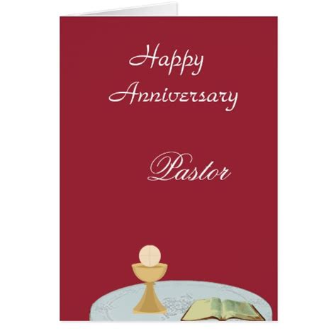 printable pastor anniversary cards happy anniversary quot pastor greeting card zazzle