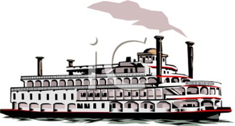 free clipart river boat royalty free clipart image riverboat with smoke stacks