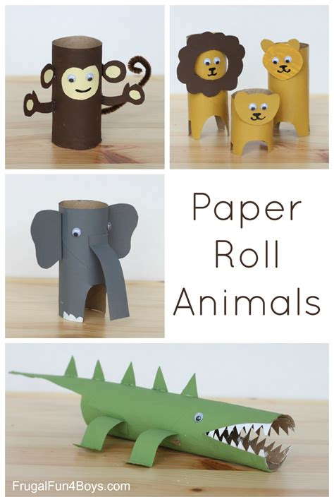How To Make Animals Out Of Construction Paper - paper roll animals frugal for boys and