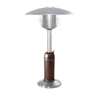 Arizona Patio Heaters Az Patio Heaters 11 000 Btu Portable Hammered Bronze Stainless Steel Gas Patio Heater Hlds032 Bb