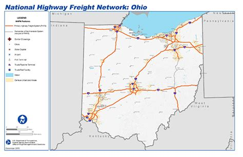 interstate hitchhiking through the state of a nation books national highway freight network map and tables for ohio