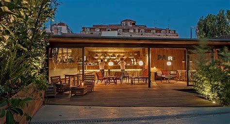 park bar park restaurant bar elevated garden terrace rooftop in lisbon portugal