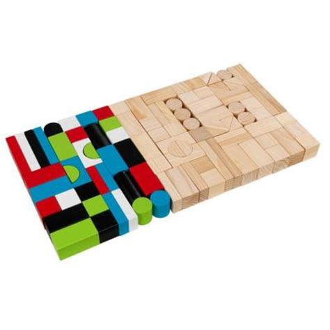 kidkraft wooden block playset 63242 the home depot