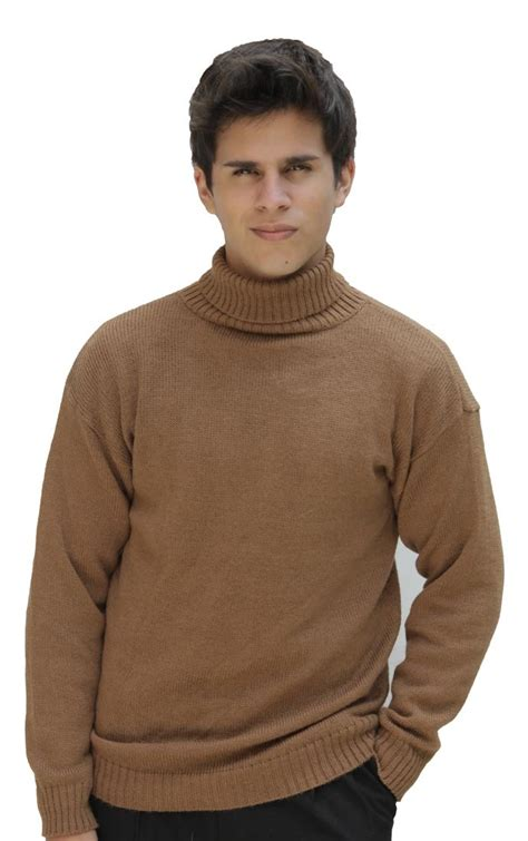 16689 Brown Turtle Neck Sweater s soft alpaca wool knitted turtleneck solid sweater ebay