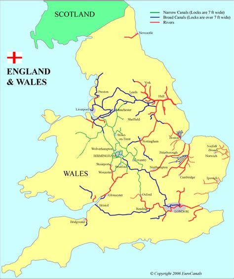 boat transport wales england wales waterways map