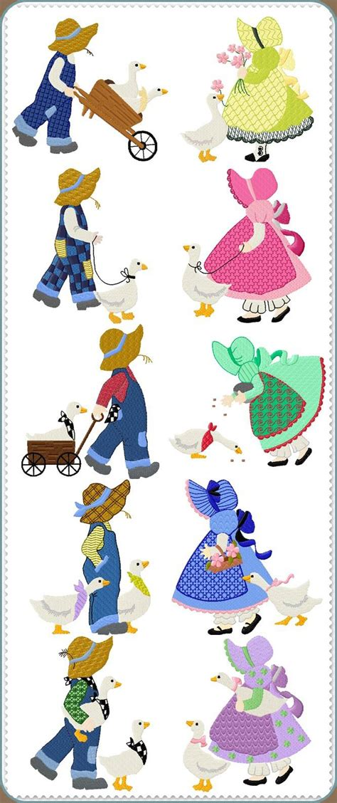 Free Sunbonnet Sue Quilt Patterns by Free Machine Embroidery Sunbonnet Sue Embroidery Designs
