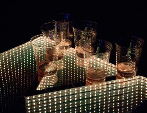 Glow Table L by Infinity Glow L E D Pong Table 187 Gadget Flow