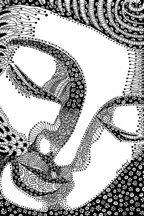 zentangle pattern sles buddha zentangle ink drawing by nance aurand humpf black