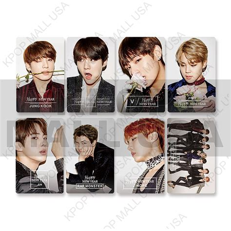 Photocard Bts by Bts Bangtan Boys New Year Pvc Photocard Set Kpop Mall Usa