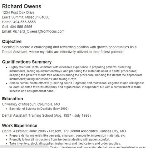 Best Dentist Resumes by New Dental Assistant Resume Resume Ideas