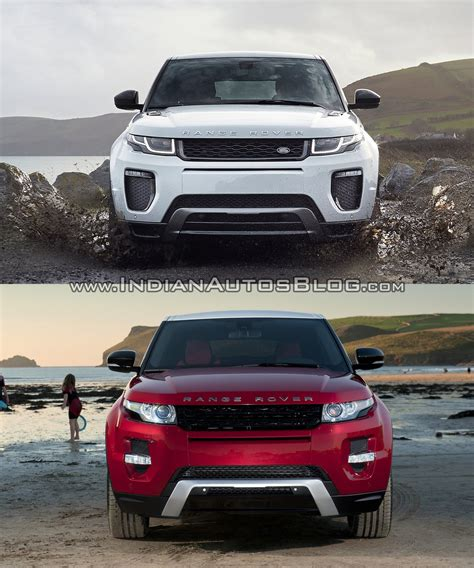 new land rover evoque 2016 range rover evoque facelift vs 2015 evoque old vs new