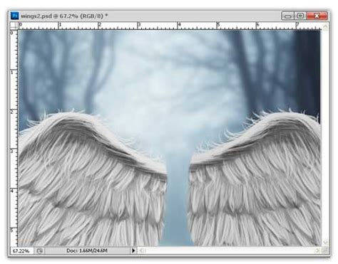 tutorial photoshop cs3 menambahkan sayap bidadari bersayap putih tutorial manipulasi photoshop