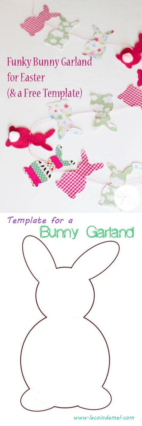 Bunny Garland Template by 1000 Ideas About Easter Templates On