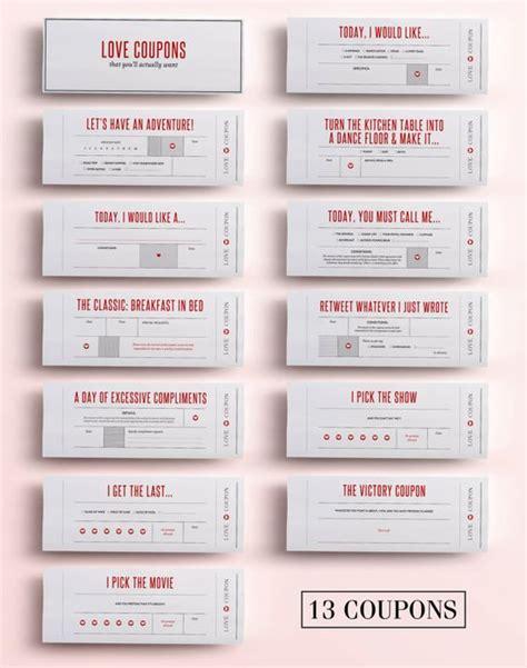 printable love coupons for boyfriend fun carnet de coupons d amour cadeau pour par