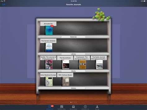 browzine tips managing your app bookshelf libraries news