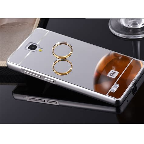 Xiaomi Redmi Note Aluminium Bumper Pc Mirror aluminium bumper with mirror back cover for xiaomi redmi note silver jakartanotebook