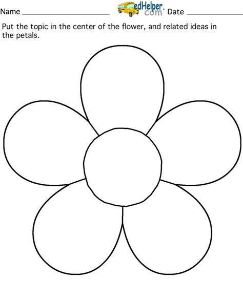 flower template with 6 petals petals coloring pages search room