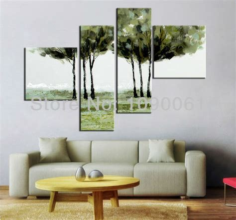 painted acrylic painting trees abstract modern wall living room decoration picture on