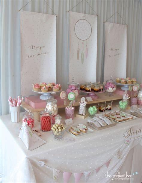 decoracion de mesas de comunion mesa dulce est 233 tica boho mesa dulce comuni 243 n ni 241 a