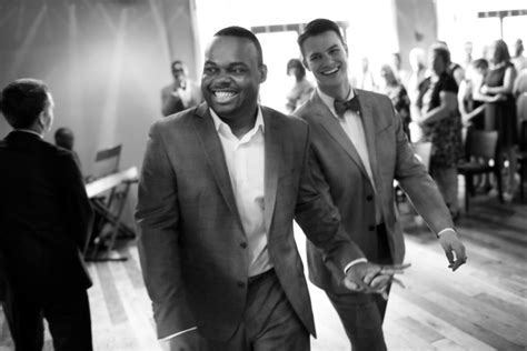 Chicago Black & White Gay Wedding Photographer