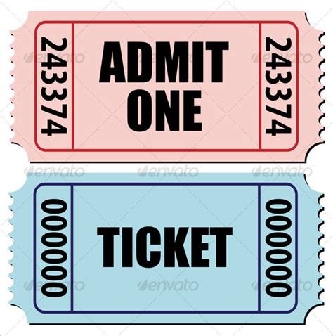 Ticket Template 91 Free Word Excel Pdf Psd Eps Formats Download Free Premium Templates Admit One Ticket Template