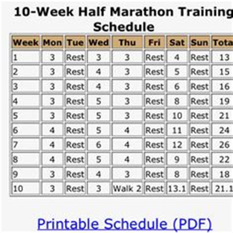 couch to half marathon in 10 weeks awesome very basic half marathon training plan for