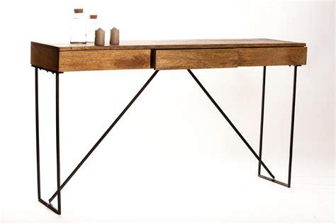 console bureau bois bureau console tiroir