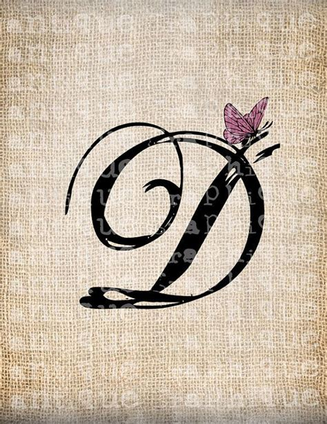 monogram tattoo designs antique letter d script monogram with by