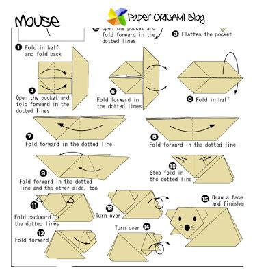 Origami Mouse Diagram - paper origami mouse origami paper origami guide