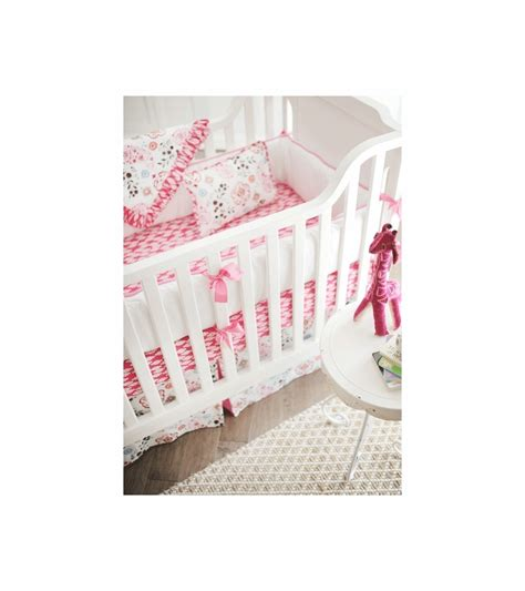 New Arrivals Penelope In Pink 4 Piece Baby Crib Bedding Set New Arrivals Crib Bedding