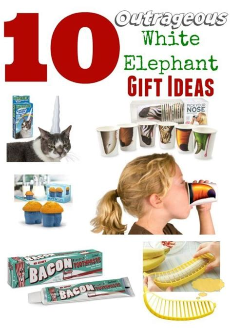10 outrageous white elephant holiday gifts gag gifts