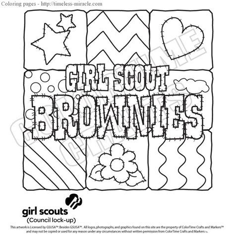 girl scout promise coloring page