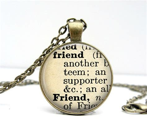 Handmade Definition - dictionary necklace friend jewelry definition by
