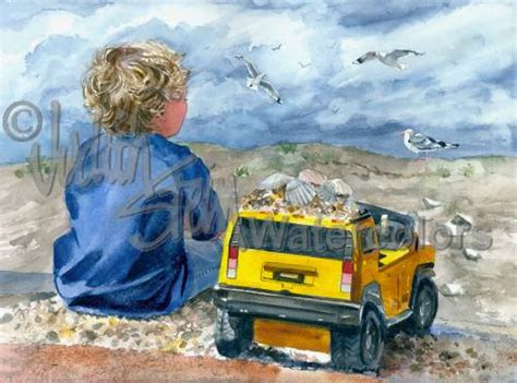 Hummer Original Clothing For 1 boy with yellow hummer truck seashells blue shirt and