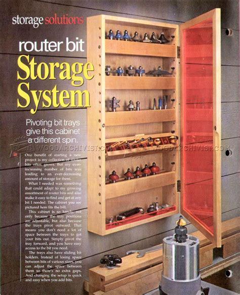 router bit storage system plans woodarchivist