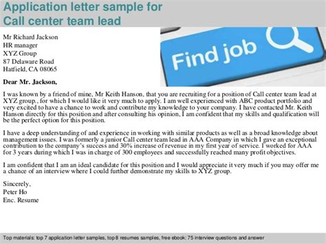 Request Letter For Team Building Sle Call Center Team Lead Application Letter