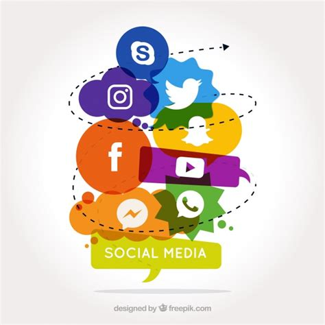 design poster social media social media background with colored forms vector free