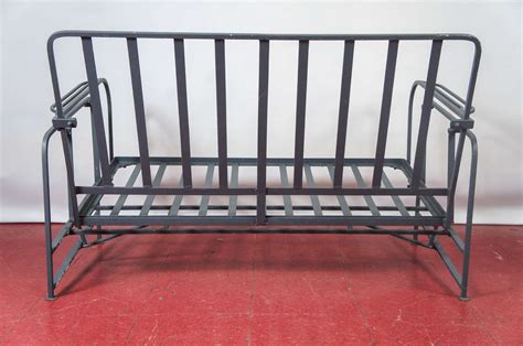 outdoor metal glider bench outdoor or porch metal glider at 1stdibs