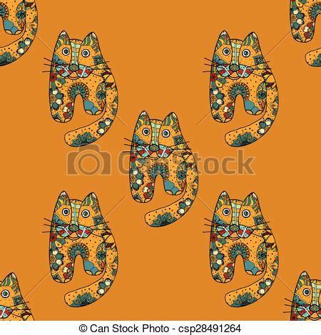 clipart divertenti clipart vettoriali di divertente gatti variopinto