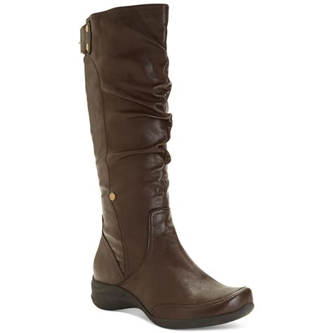 whats a hush puppy hush puppies 174 alternative wide calf boots in brown brown lyst