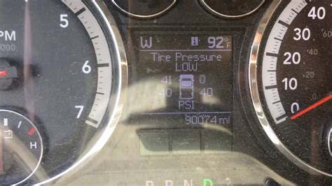 dodge ram tire pressure indicator reset help youtube