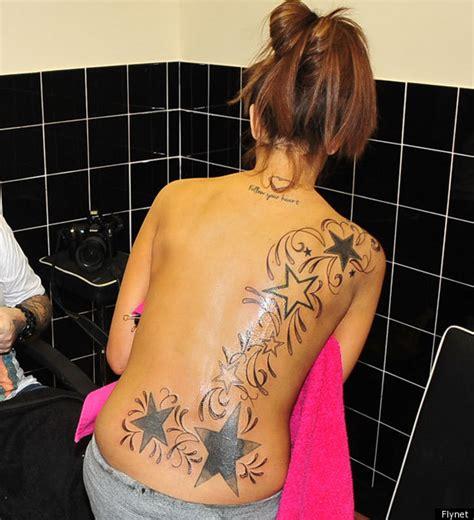 tattoo prices uk manchester natasha giggs shows off huge new back tattoo