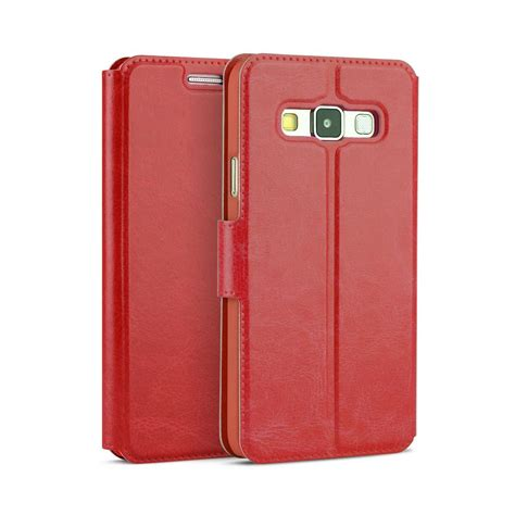 Samsung A3 2015 A300 Leather Flip Wallet Cover Murah leather slim flip wallet book phone pouch cover for