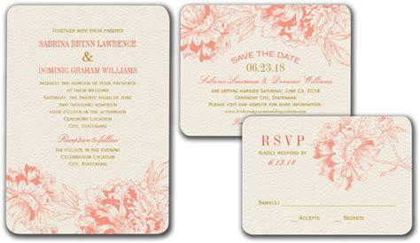 peony design invitation jakarta wedding cards and gifts coral floral peony design wedding