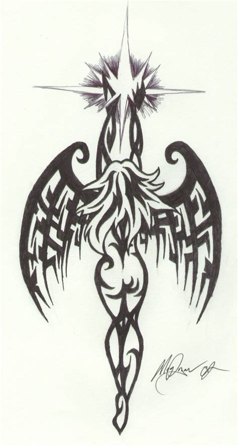 tattoo angel tribal tribal angel by brimstoneman34 on deviantart