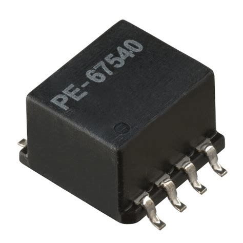 pulse inductors smd pulse pe 67540t commom mode choke 100uh inductor 8 pin 4 line smd new 1 pkg ebay