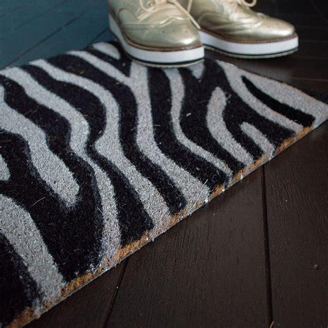 Zebra Doormat by Zebra Print Doormat Audenza