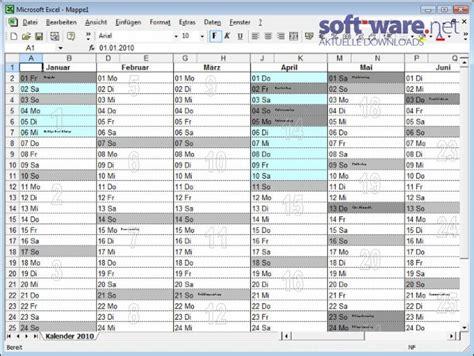 P Calendar Exle Kalender Excel Windows Bei Soft