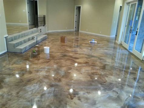 New Epoxy Floor at Made in America house.   Epoxy Overlay