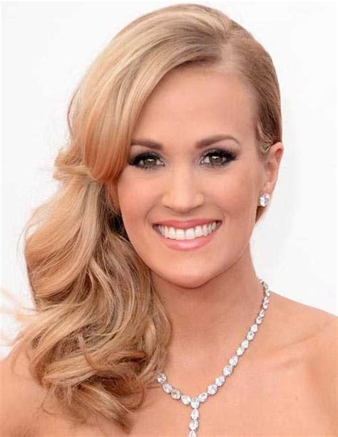 prom hairstyles side swept curls 12 easy homecoming hairstyles ideas and photos